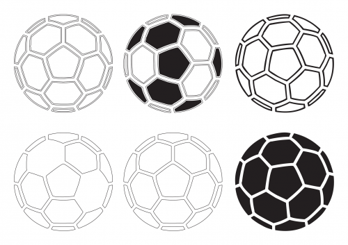 photo regarding Soccer Ball Template Printable titled Printable Football Ball Clipart -