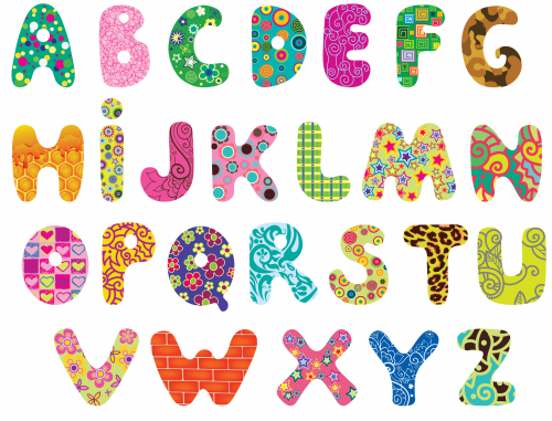 image regarding Printable Lettering known as Printable Alphabet Clipart -