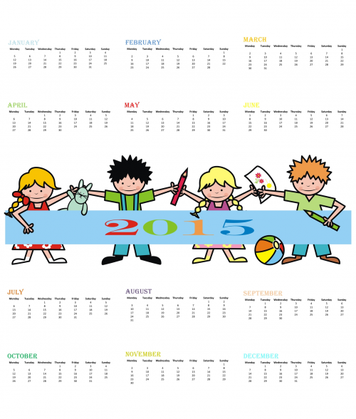 Kids Desk Calendar : Printable desk calendar new template site