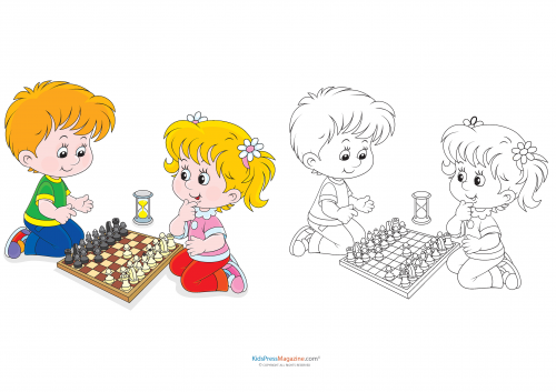 Smooth Chess Coloring Pages to Print 1 | Sports coloring pages ... | 353x500