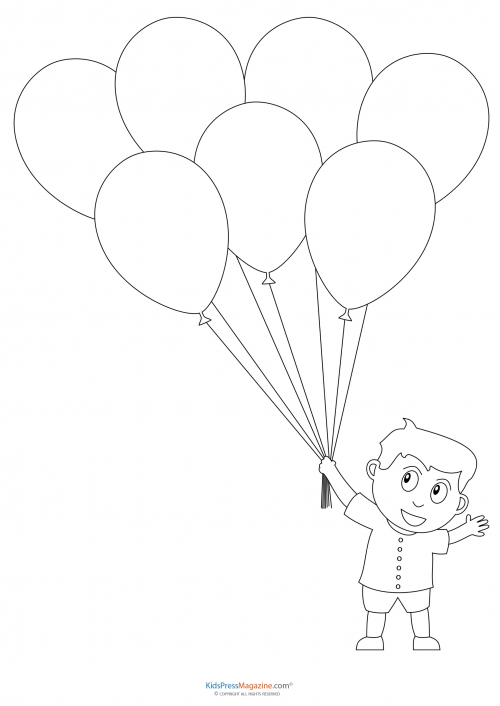 Balloon coloring pages for preschoolers balloon best for Balloon coloring pages