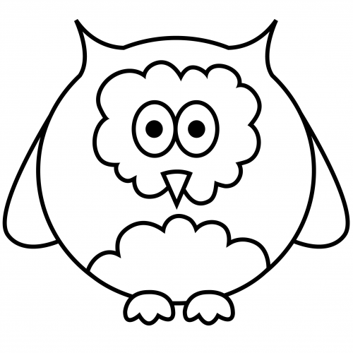 simple coloring page owl. Black Bedroom Furniture Sets. Home Design Ideas