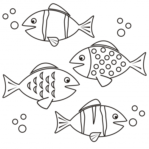 Coloring Page Fish Get It Now