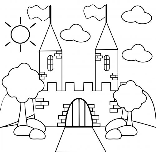 Printable Castle Coloring Pages For Kids | 485x500
