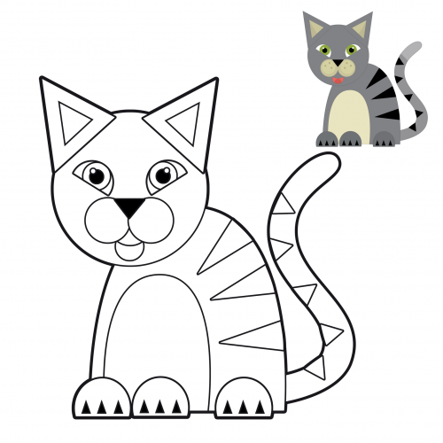 cat coloring pages for preschoolers - photo #19
