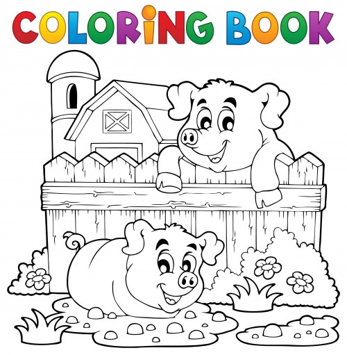 Cookbook Cover Coloring Page : Coloring book cover farm kidspressmagazine