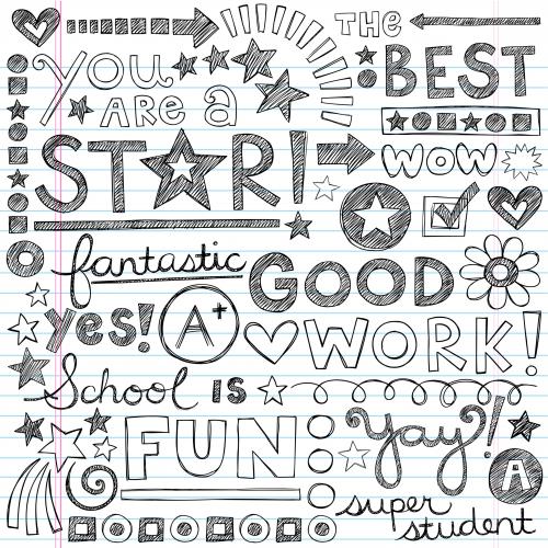 super student doodle page 1