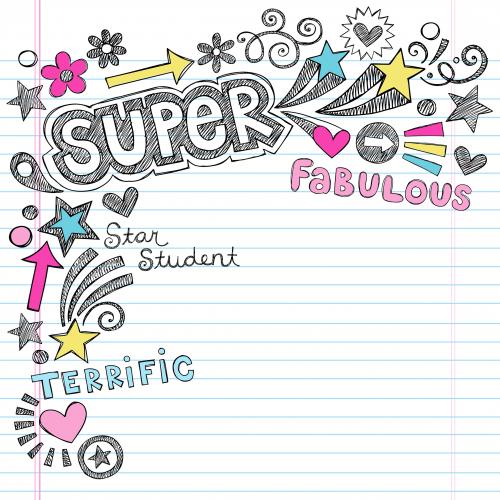 Scrapbook Clipart – Super Student Background