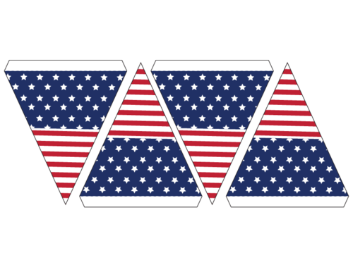 image about Printable Usa Flag called Banner Bunting United states Flag -