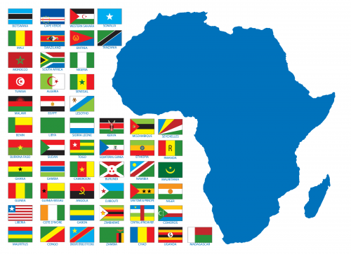 photo regarding Printable Country Flags known as African Nations around the world Printable Map -