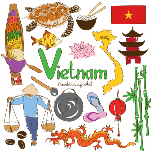 Vietnam Culture Map on Geography Free Printables
