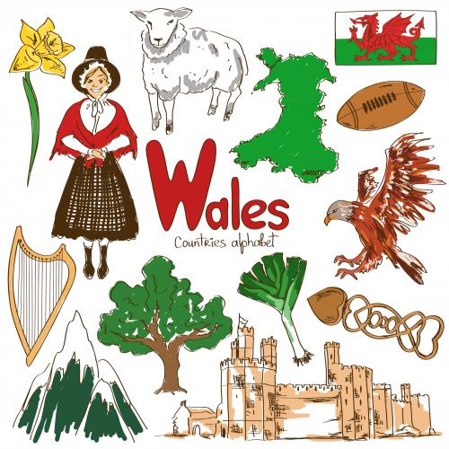Wales Culture Map - KidsPressMagazine.com