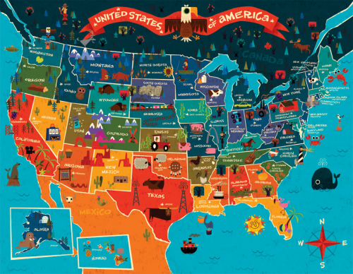 USA Map for Kids - KidsPressMagazine.com