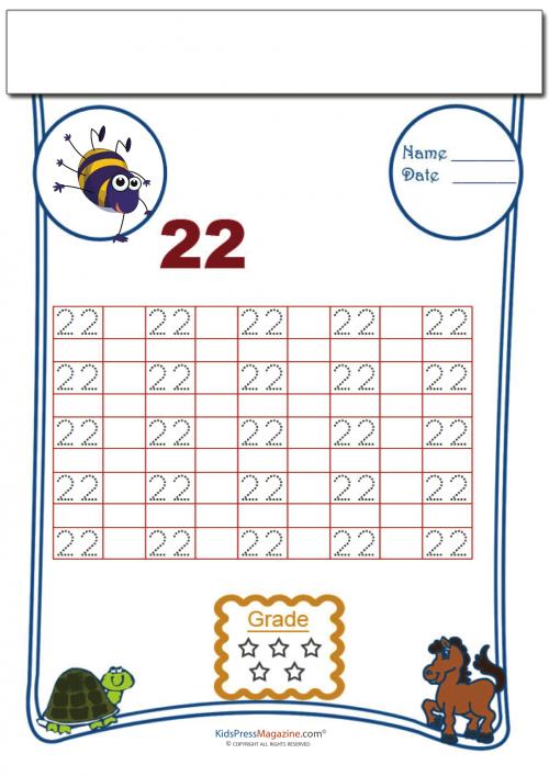 Number Tracing worksheet - 22   Homeschooling: Number Tracing ...