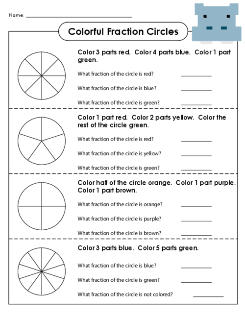 Fraction Circle Worksheets - fraction circle worksheets and ...