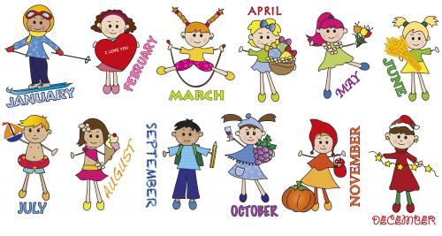 Months of the Year - Children - KidsPressMagazine.com