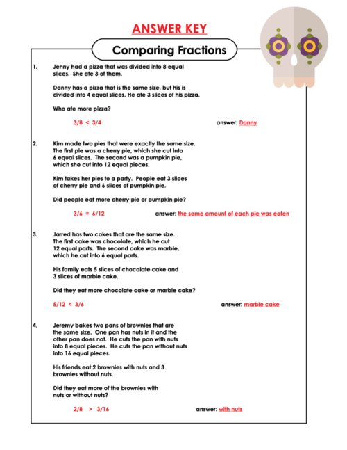 Comparing Fraction Word Problems 4th Grade 4th Grade Math Word – Comparing Fractions Word Problems Worksheets