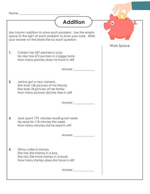 Number Names Worksheets : 2 digit subtraction with regrouping word ...