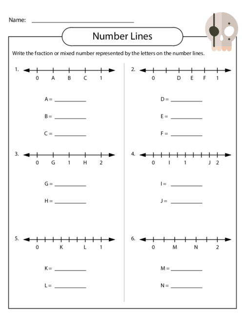 Fractions on a Number Line KidsPressMagazine – Place Fractions on a Number Line Worksheet