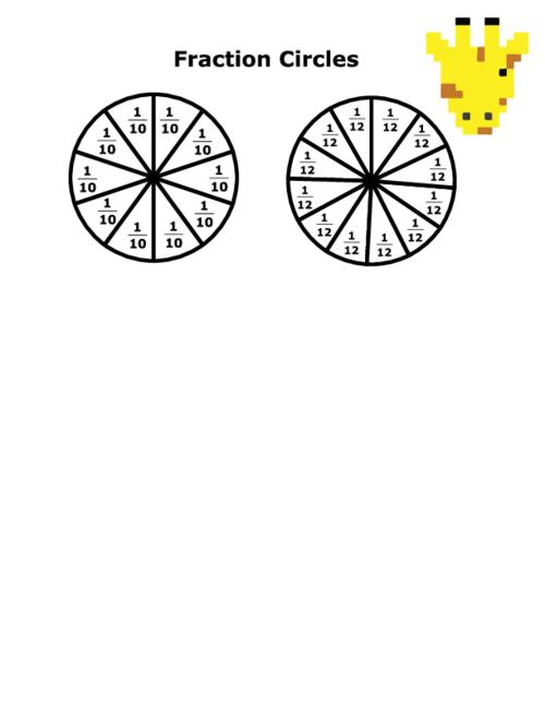 Fraction Circles With Numbers - KidsPressMagazine.com