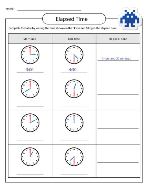 Number Names Worksheets free worksheets on time : Time Worksheets : elapsed time worksheets number line ~ Free ...