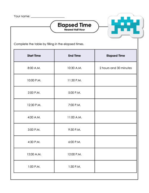 Counting Number Worksheets Time Elapsed 2nd Grade: Elapsed Time Worksheets Pdf At Alzheimers-prions.com