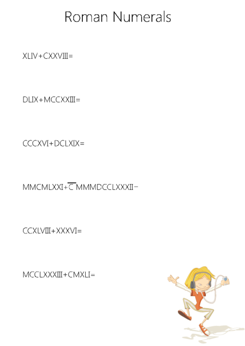 Roman numerals worksheet kidspressmagazine get it now ibookread ePUb