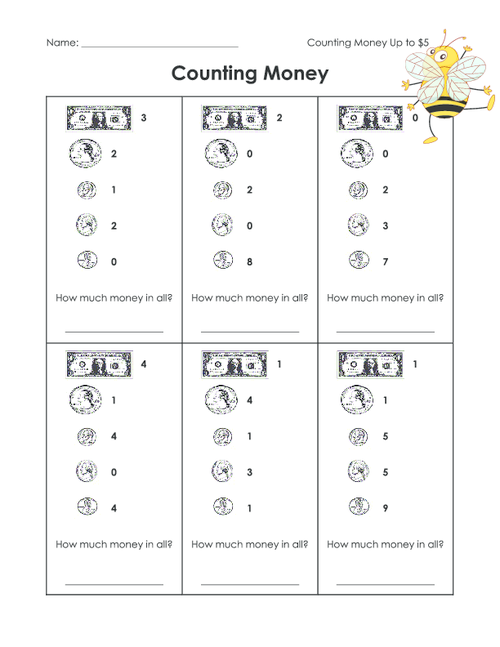 counting money worksheet 2. Black Bedroom Furniture Sets. Home Design Ideas