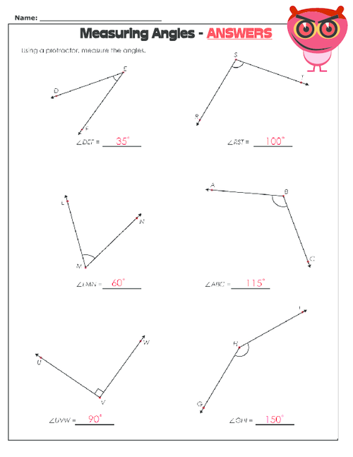 Printables Protractor Worksheets reading protractor worksheet davezan using a kidspressmagazine com