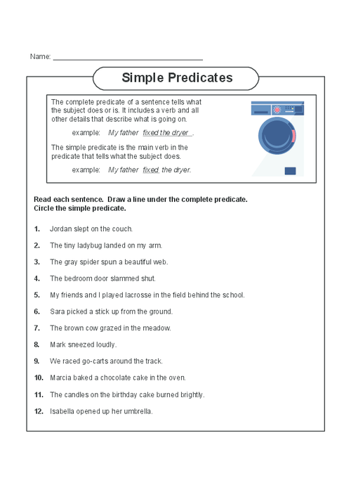 All Worksheets Subject And Predicate Worksheets Free Printable – Simple Subject and Simple Predicate Worksheet