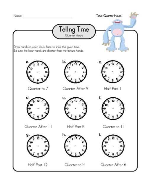 Draw the Hands on a Clock 3 - KidsPressMagazine.com