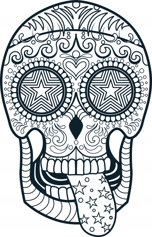 sugar candy skulls coloring pages - photo#8