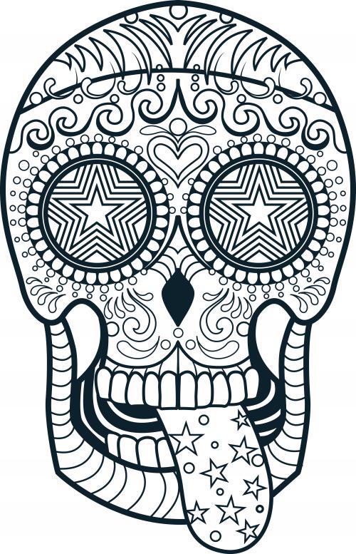 Sugar Skull Coloring Page 3 - KidsPressMagazine.com