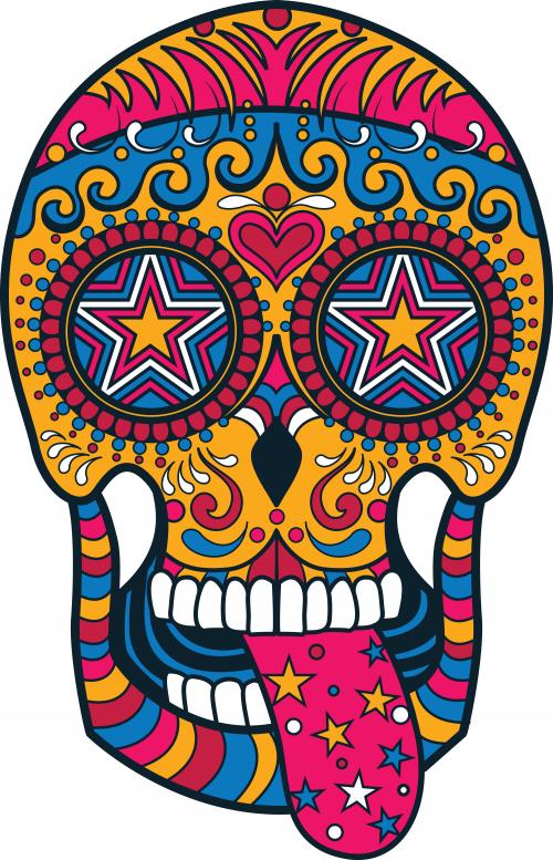 Sugar Skull Coloring Page 3 KidsPressMagazine