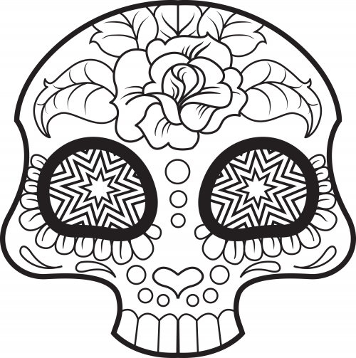 Top 15 Skull Coloring Pages For Your Little One | 503x500