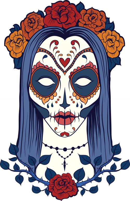 Sugar Skull Coloring Page 9 Kidspressmagazine Com
