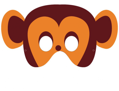 graphic regarding Printable Monkey Masks named Monkey Mask -