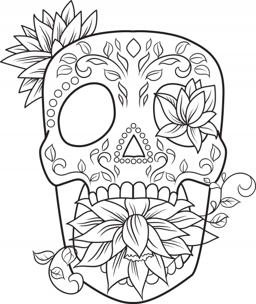 sugar skull designs coloring pages - photo#5
