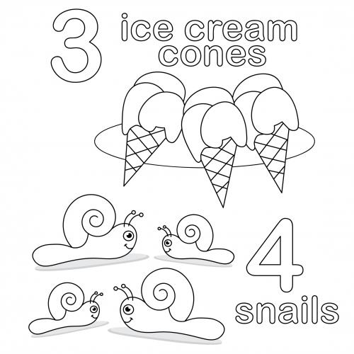 Count and Color Worksheet - 3 & 4 - KidsPressMagazine.com
