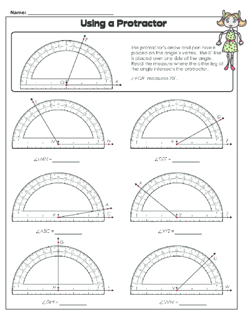 Using a Protractor KidsPressMagazine – Measuring Angles with a Protractor Worksheet