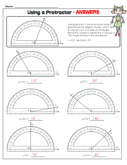 Worksheets. Using A Protractor Worksheet. Justptctrusted Worksheets ...