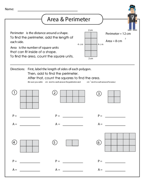 3rd Grade Math Worksheets Area And Perimeter Deployday – 3rd Grade Area and Perimeter Worksheets