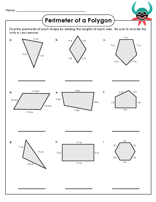Free Worksheets unit circle worksheet c answers : Free area and perimeter coloring pages