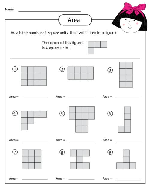 Pattern Worksheets shape pattern worksheets for 4th grade : Area of a Shape Worksheet - KidsPressMagazine.com