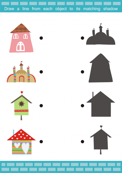 Match The Item Houses Kidspressmagazine Com