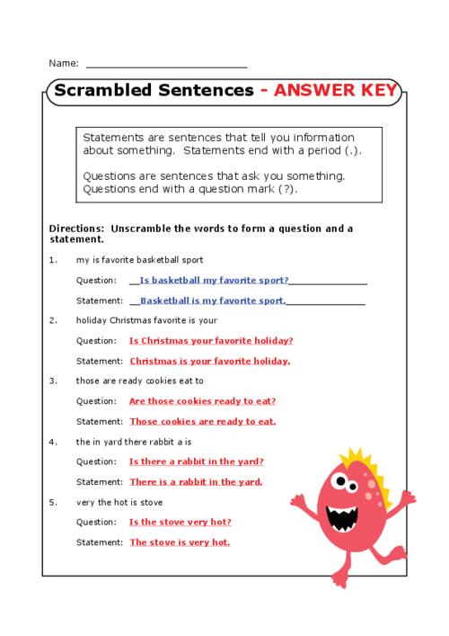 scrambled sentences worksheets for 3rd grade search results education unscramble sentences. Black Bedroom Furniture Sets. Home Design Ideas