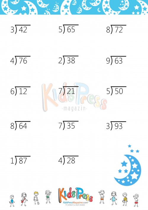 Worksheet #12241584: Two Digit Division Worksheets – Long Division ...