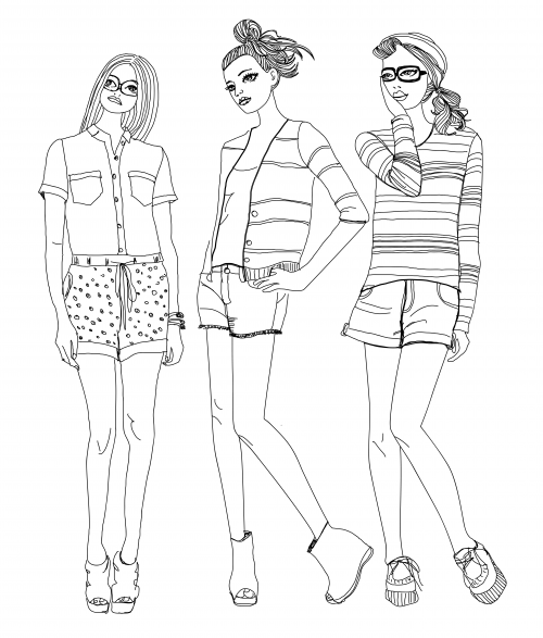 coloring pages fashions - photo#47