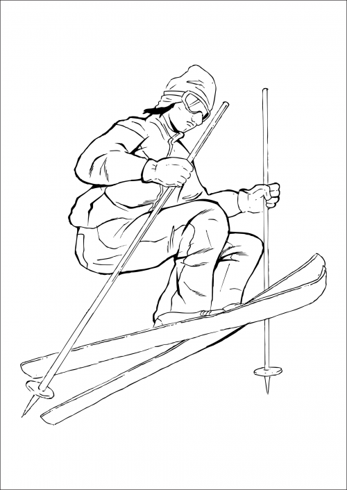 bears skiing coloring pages - photo#46
