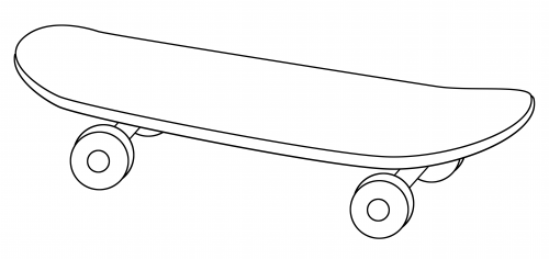 skateboard coloring pages online - photo#32